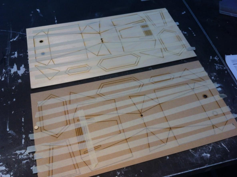 Lasercut components of Polygon