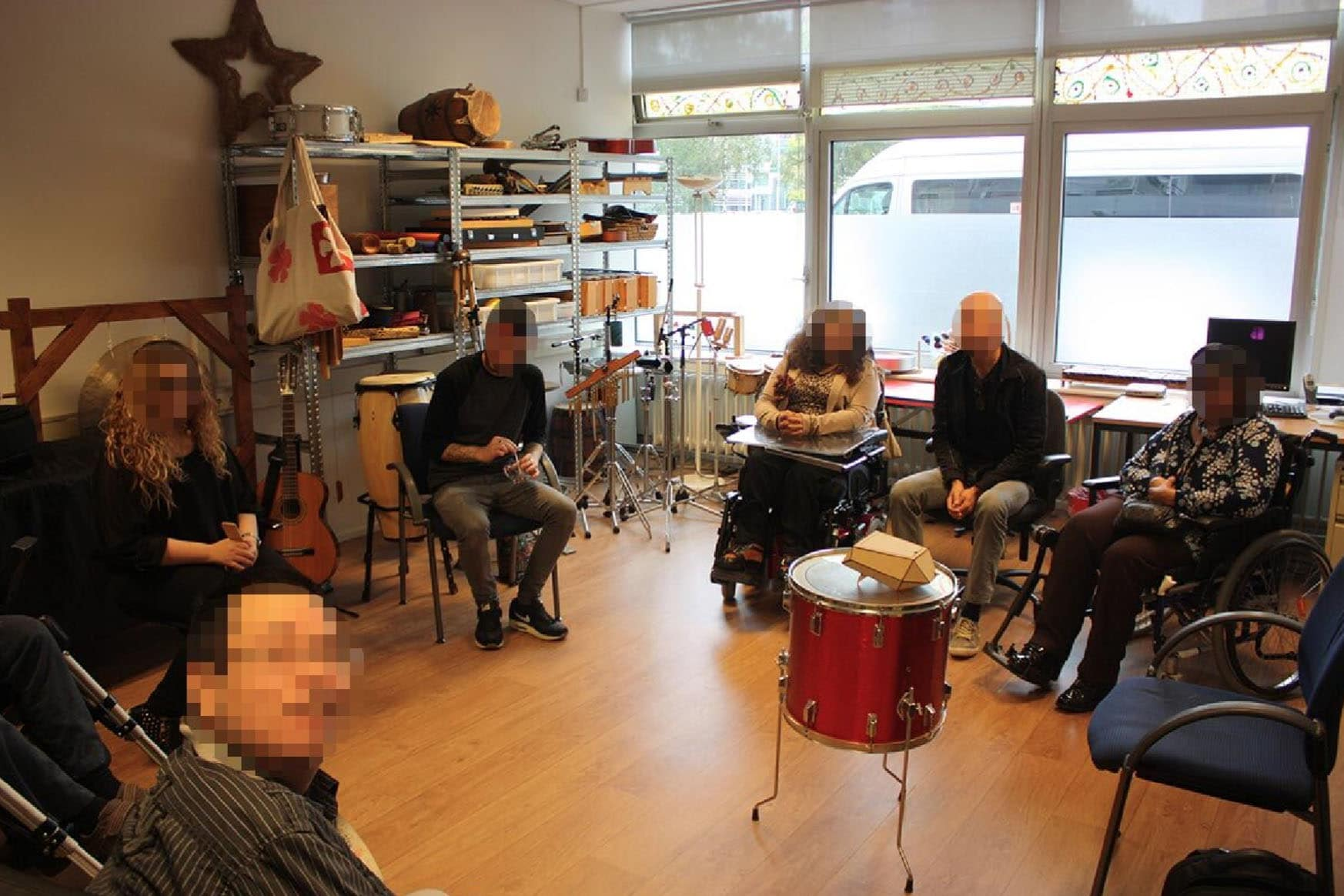 A workshop with people with acquired brain injury, talking about Polygon