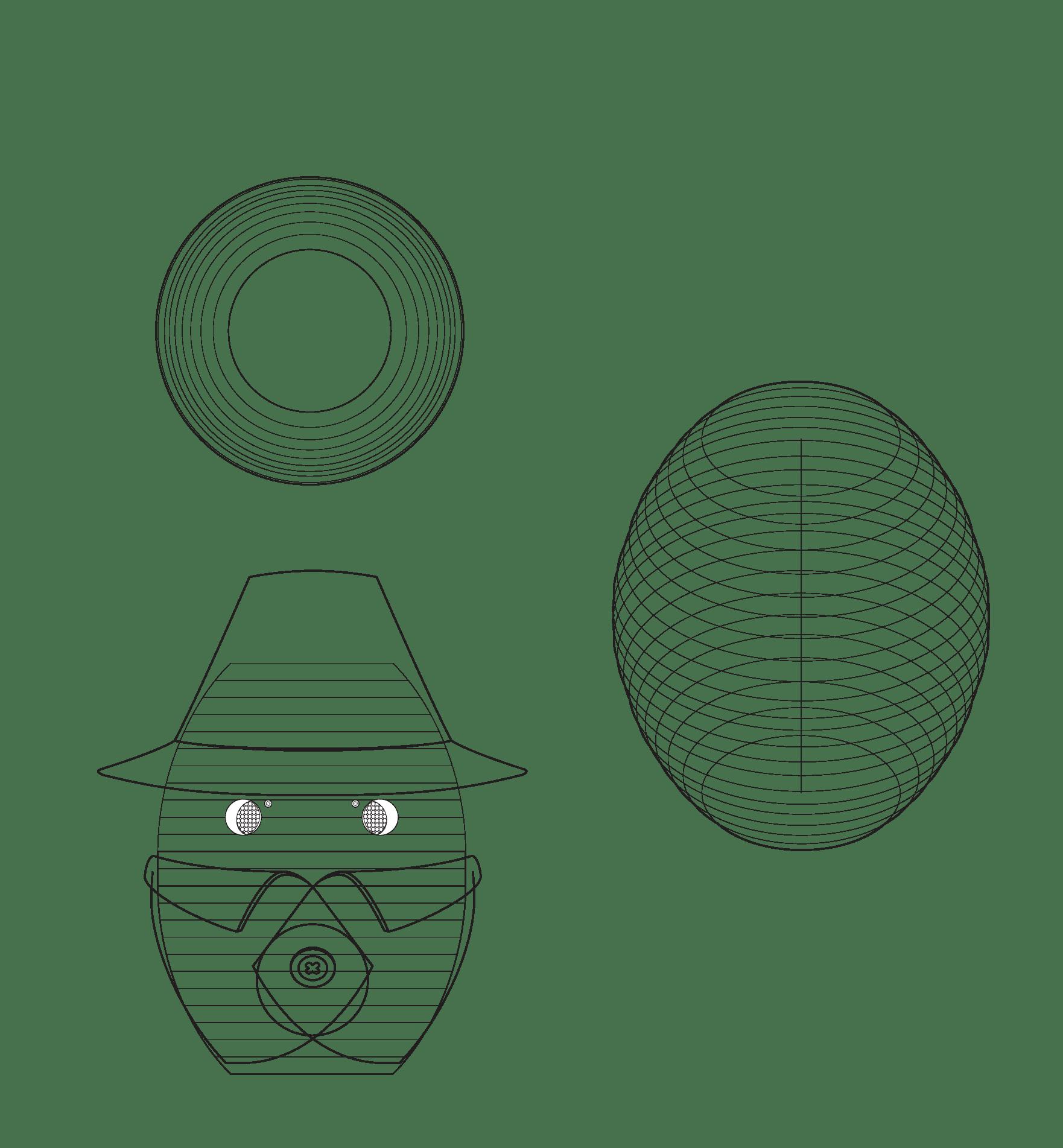 Robot embodiment sketch of Tessa