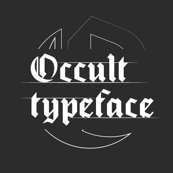 Project link: Occult Typeface