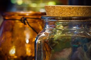 glass memory jar