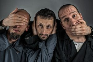 three men - see no evil hear no evil speak no evil