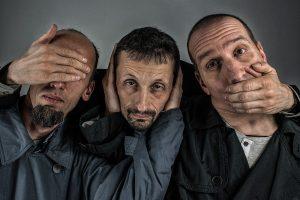 three men - see no evil hear no evil speak no evil