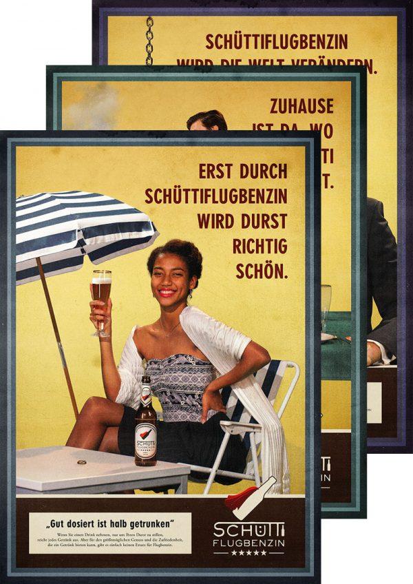 Poster Reihe »Schüttiflugbenzin«