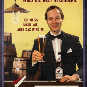 Poster »Schüttiflugbenzin – Schüttiflugbenzin wird die Welt verändern.«