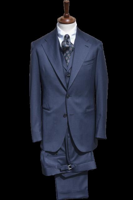 Blå 3-delad Kostym