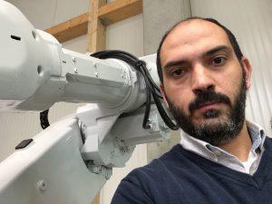 Robot Giusto - Fabio con un robot