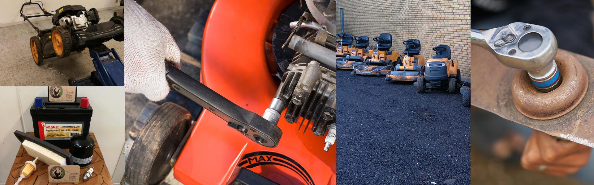 Vi vedligeholder og servicere alle typer græsslåmaskiner