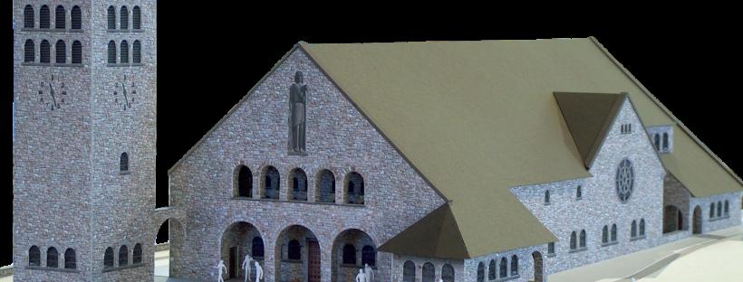 Modell der heutigen Pfarrkirche