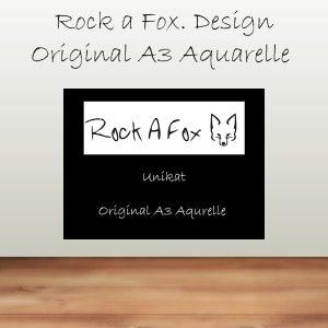 Original A3 Aquarelle (Unikate)