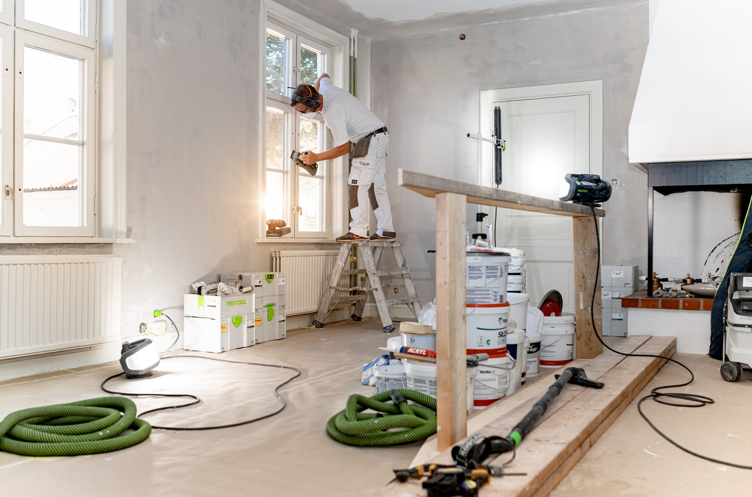 Worker, Festool, Painter, Sunshine, Paint