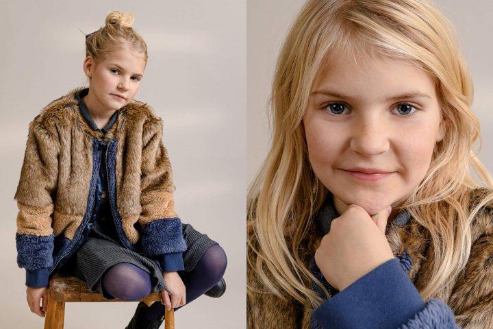 Kid in studio. Fashion Photography.