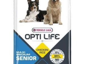 OptiLife Maxi & Medium Senior er en perfekt afbalanceret foder specielt udviklet til at opfylde alle de ernæringsmæssige behov hos aldrende hunde.