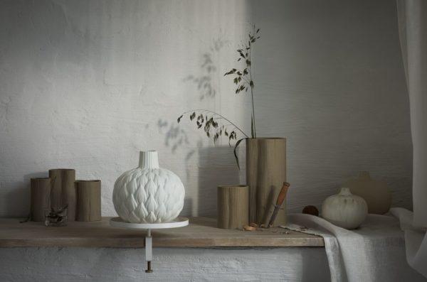 Vase Relief Astrid CreamWhite