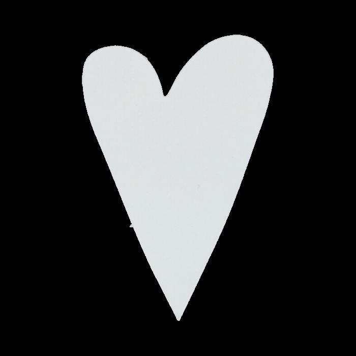 Ett vackert hjärta i vitt ribbat papper