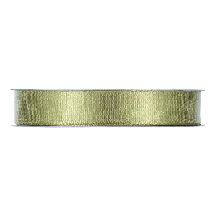Satinband grågrön En rulle med satinband