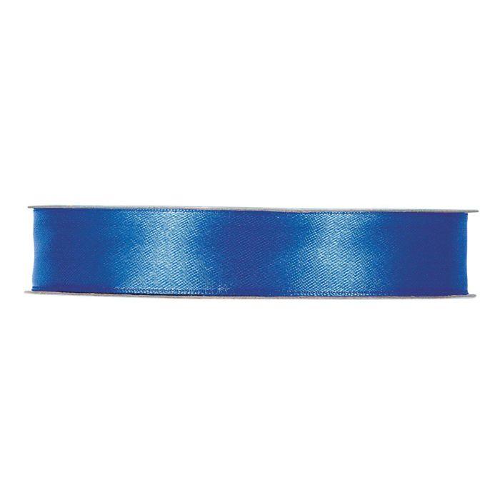 Satinband mellan blå En rulle med satinband