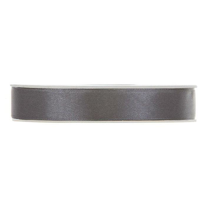 Satinband mörkgrå En rulle med satinband