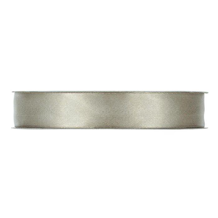 Satinband Silvergrå En rulle med satinband
