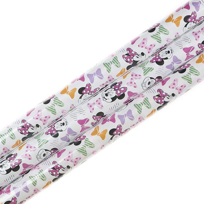 Presentpapper 70 x 200 cm rullar av presentpapper Disney Mimmi Pigg och alla hennes rosetter