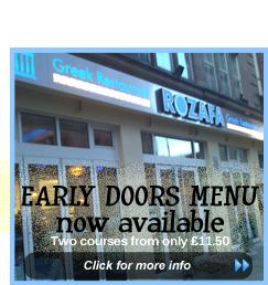 early doors menu rozafa greek restaurant manchester outdoor dining