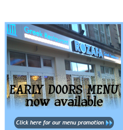 early doors menu rozafa greek restaurant manchester outdoor dining