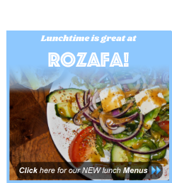 lunch away menu rozafa greek restaurant manchester outdoor dining