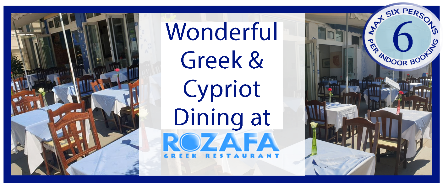 Max 6 people booking Rozafa Greek Restaurant