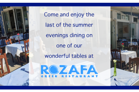Max 6 people booking Rozafa Greek Restaurant