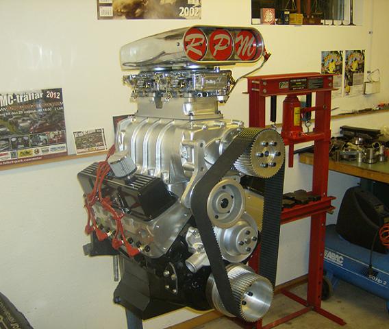 Chevrolet 383 med 6-71 kompressor