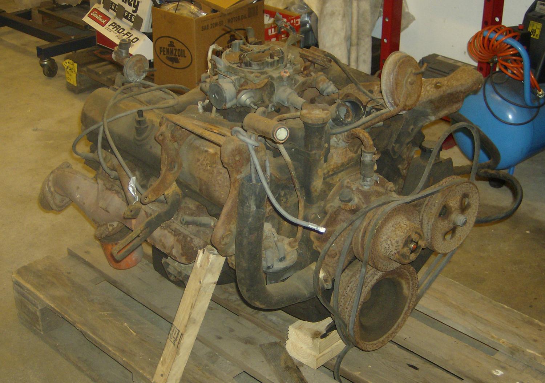 Oldsmobile 455 före renovering