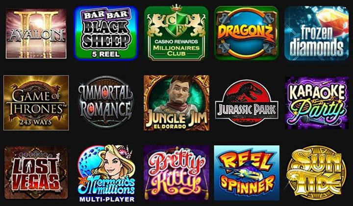 Slot machines at Grand Mondial casino