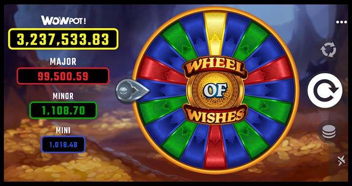 Wheel of Wishes slot machine and bonus jackpot