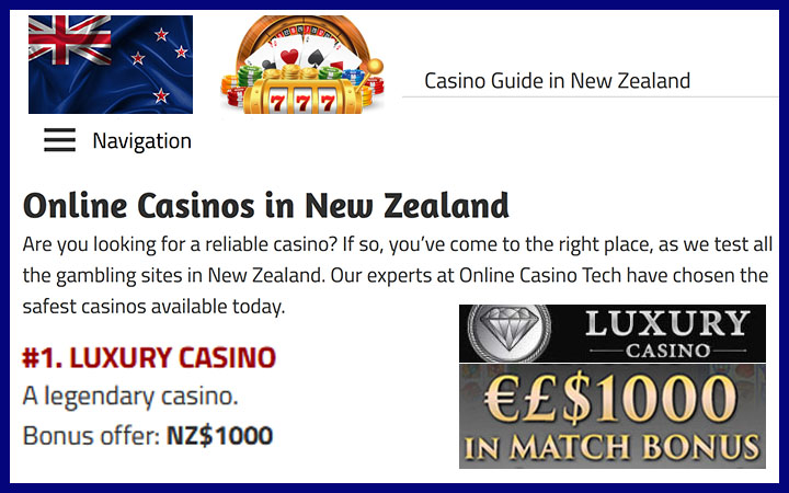 NZ casino guide for online slot machines