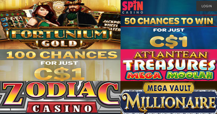 Mega Moolah casino free spins with a 1 dollar deposit