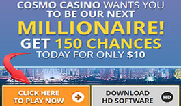 Cosmo Casino huge free spins offer