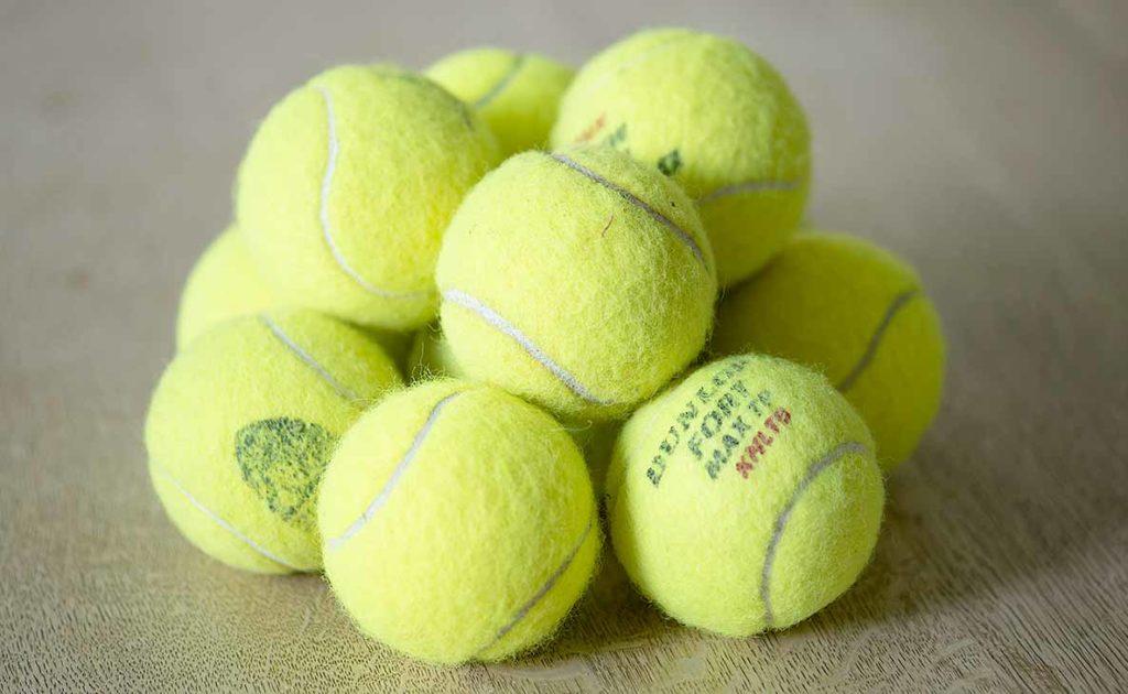 oude tennisballen
