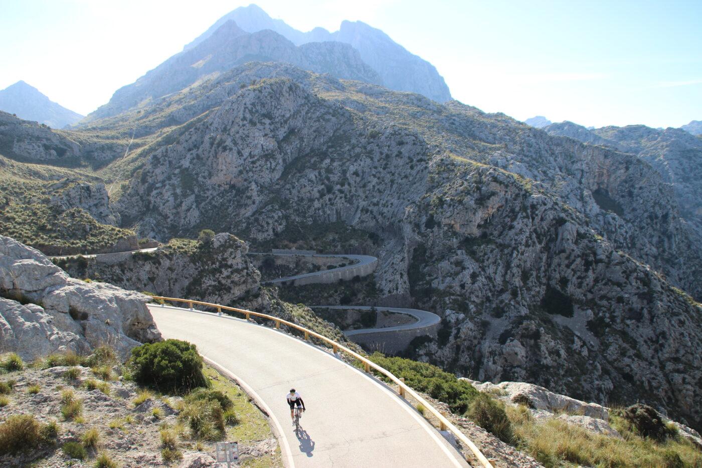 Wielrennen op Mallorca - Ruben van Kempen - Sa Calobra