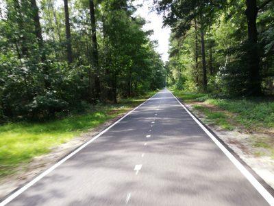 Fietsvakantie in eigen land - Glad asfalt