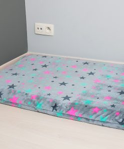 Bollie Bed Hondenkussen - Colored Stars on Grey
