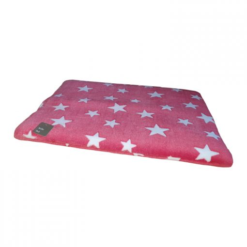 Bollie Bed Kussen White Stars on Red (maat 3)