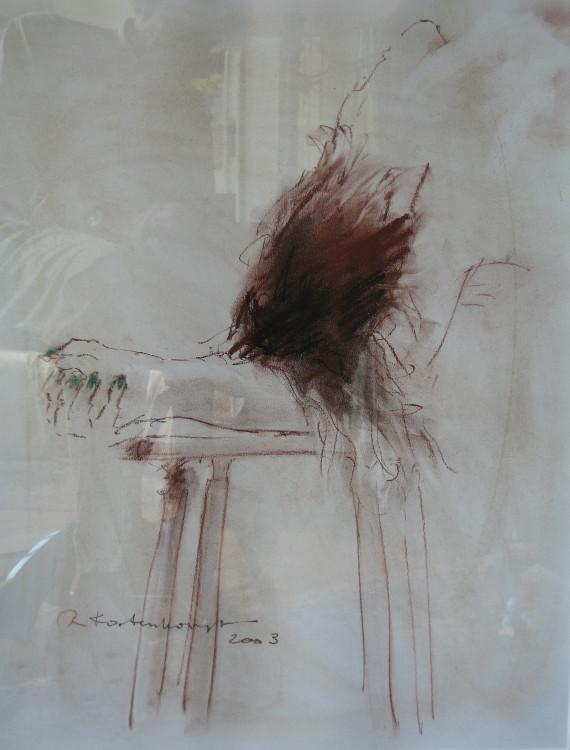 Bending Nude 7 Conté on paper 50 x 60 cm €375