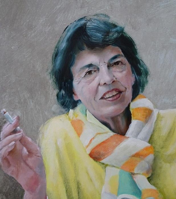 Portret in opdracht Familie schilderij