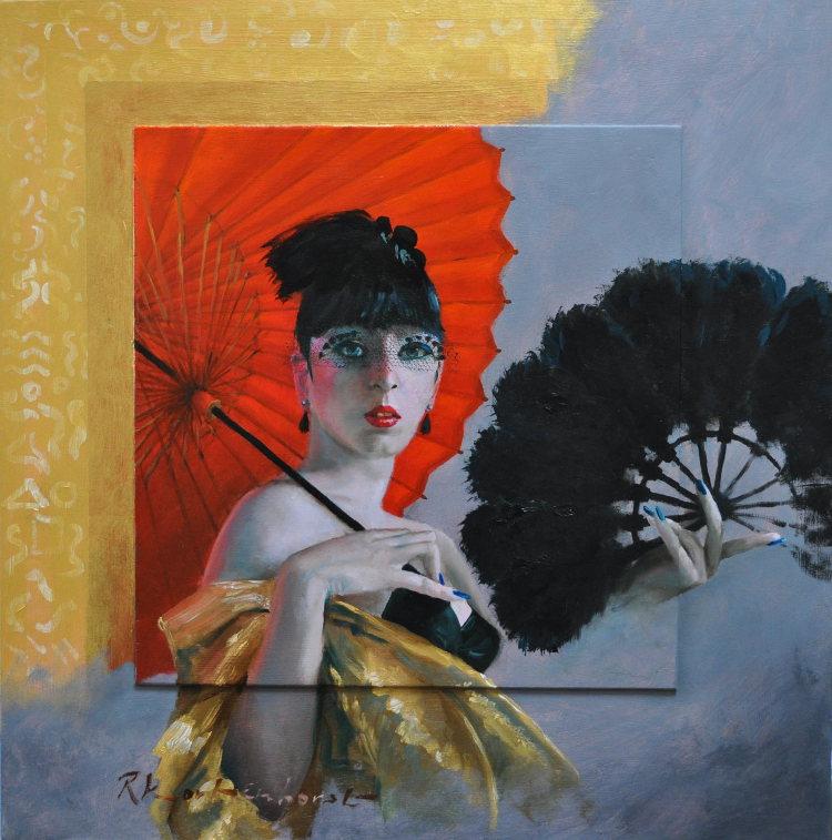 Enticement 1 Oil on panel, framed 60 x 61 cm €2.550