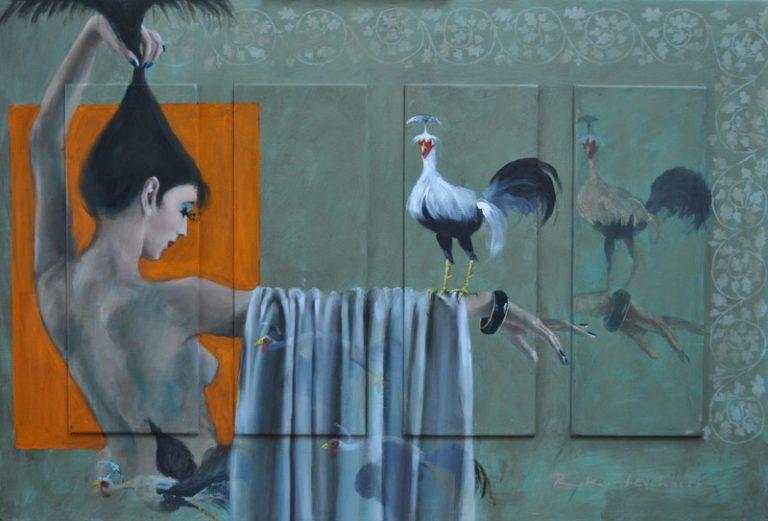 Flying birds Oil on panel, 90 x 60 cm, framed €2.300
