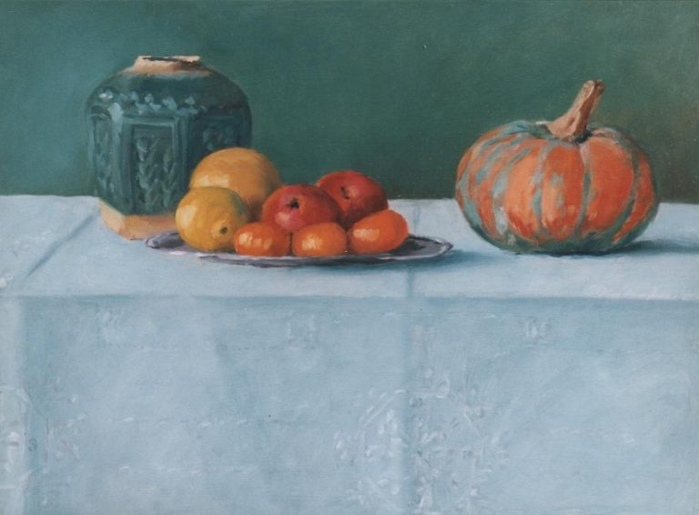 Gemberpot met fruit 40 x 30 cm 1.000 euro