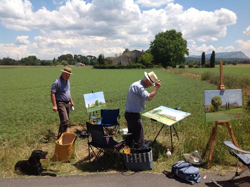 In navolging van Cézanne, Mont Sainte-Victoire Zuid Frankrijk