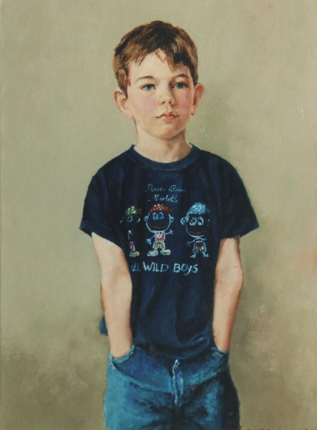 Kinderportretten Koen portretten in opdracht portret in opdracht schilderij portrait painter schilderij kunstenaar kunstschilder Rudolf Kortenhorst kunstschilder schilder