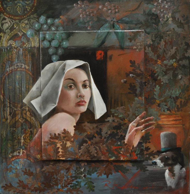 Mary Oil on panel, framed 60 x 62 cm €2.300