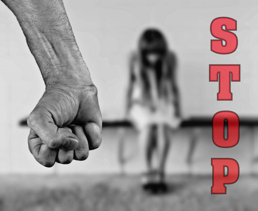 Gewalt gegen Frauen.